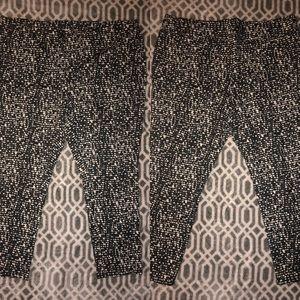 Black with white polka dot jeggings